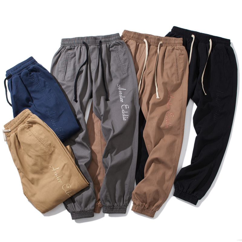 Moyi Mo Yi Origional Japanese-style Popular Brand Classic Five-Color Embroidered Workwear Ankle Banded Pants Loose Casual Pants