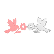 Animal bird cutter die metal cutting die silver craft die set handmade special gift and DIY scrapbook embossed template cheap JA050706 Carbon steel 67*50MM Cutting dies