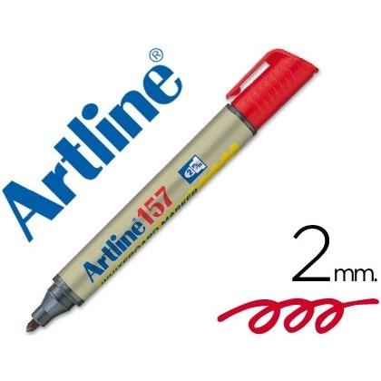 MARKER ARTLINE SLATE EK-157 RED-ROUND TOE 2 MM 12 Units