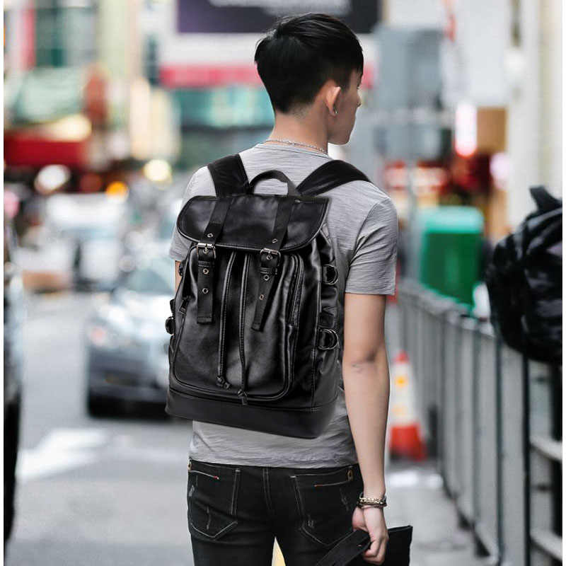 Homens ao ar livre mochila de couro do plutônio do vintage negócios bagpack masculino mochila portátil mochilas de viagem dos homens sacos de ombro pacote