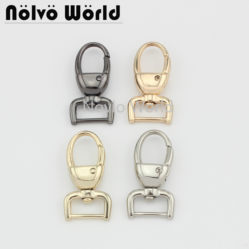 Wholesale 500pcs,4 Colors Accept Mix Color, 44*15.8mm, Metal Snap Hook Handbag Lobster Buckle Swivel Clasp Hook Hardware