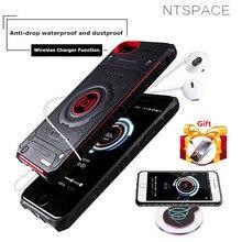 NTSPACE, беспроводной зарядный внешний аккумулятор для iPhone 7, 8, 6, 6s Plus, беспроводное зарядное устройство для телефона, чехол для аккумулятора для iPhone X, 8, 7, 6s, чехол для питания