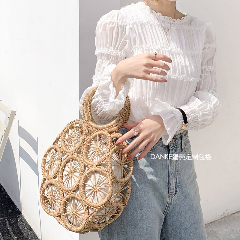 Beach Straw Bags For Women 2020 Summer Rattan Bag Handmade Hollow Woven Beach Bag Casual Bohemia Bali Handbag Bolsos Mimbre