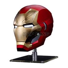 WZP PONG Iron Man MK46 kask 1 1 maska z pcv Cosplay dla Avengers Endgame figurka-Model kolekcjonerski zabawka dla dzieci prezent tanie tanio Unisex Stay Away Form Fire 30*20 CM Pierwsze wydanie 5-7 lat 8-11 lat 12-15 lat Dorośli 3 lat Urządzeń peryferyjnych