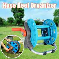 Portable Garden Hoses Reel Organizer PP+Alloy Garden Pipe Storage Cart 20M max Pipe Exclude Winding Tool Rack For Outdoor Yard