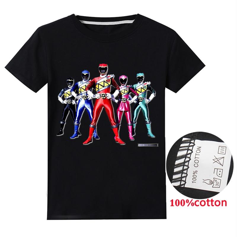 Футболки для мальчиков и девочек Power Ranger, костюм, одежда для мальчиков, одежда с кроликами, футболки с коротким рукавом, футболки, топы, детск...
