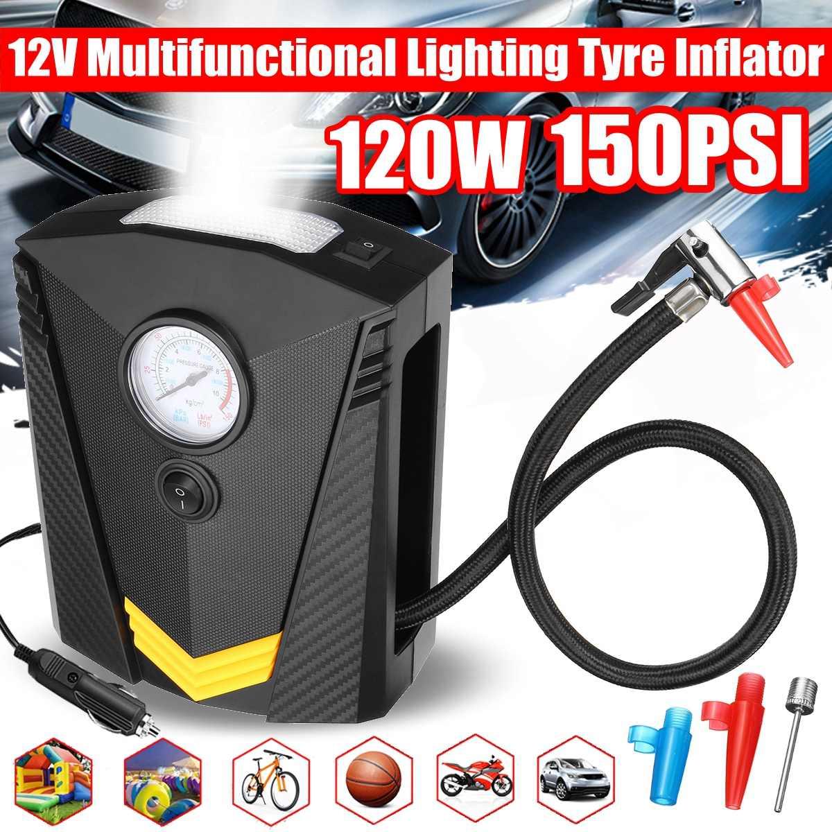 12V Car Digital Tire Inflator DC Portable Air Compressor Pump 150 PSI Car Air Compressor for Car Motorcycle LED Light Tire Pump|Inflatable Pump| |  -