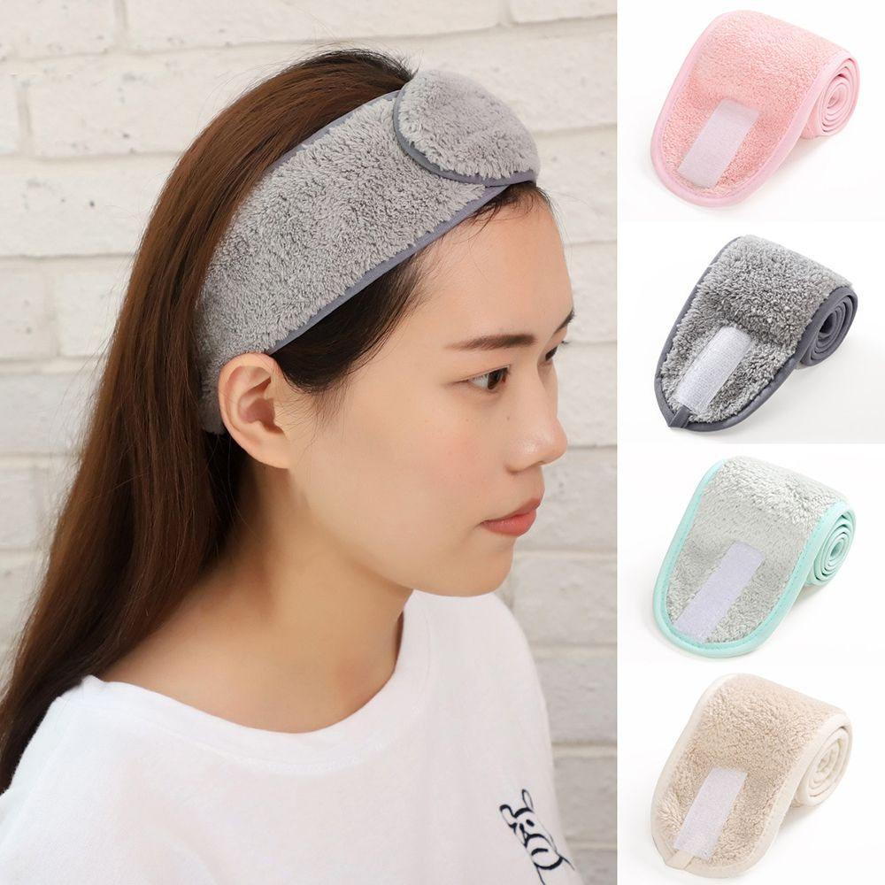 Adjustable Makeup Hairband Headband for Wash Face SPA Facial Hair Bands for Women Girls Soft Toweling Turban Hair Accessories(China)