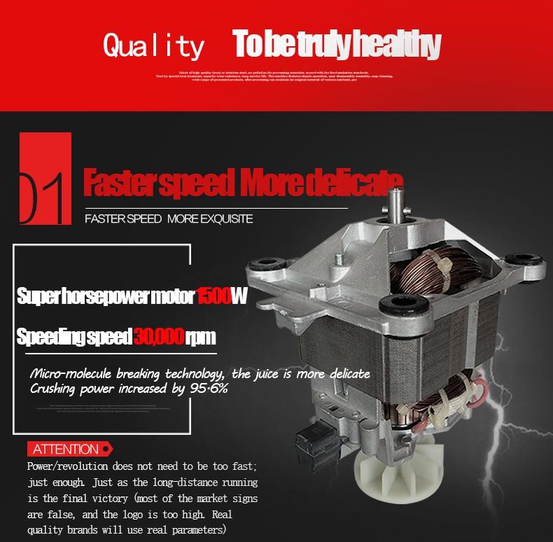 Commercial 2L Heavy Duty Grade Blender Mixer Juicer High Power Food Processor Ice Smoothie Bar Fruit Blender Ice Crusher