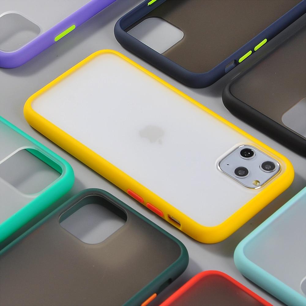 Hybrid Simple Matte Bumper Phone Case for iPhone 11 Pro Max Xr Xs Max 6s 8 7 Plus