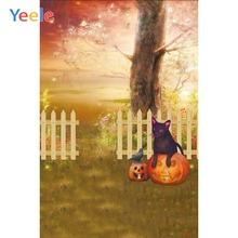 Dreamy Forest Fence Halloween Backdrop Newborn Baby Portrait Pet Show Custom Photography Background For Photo Studio Photophone