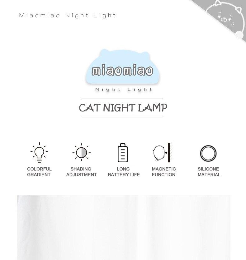 gato bonito 7 colorido feriado criativo rechargable