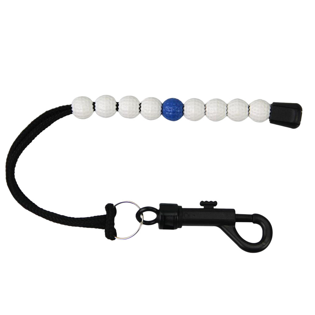 2 Pieces Durable Golf Stroke Counter Scores Keeper Counting Scoring Bracelet Beads For Golfers Clubs White And Blue/Purple