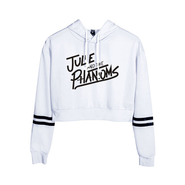 JULIE AND THE PHANTOMS THEMED CROP TOP HOODIE (25 VARIAN)