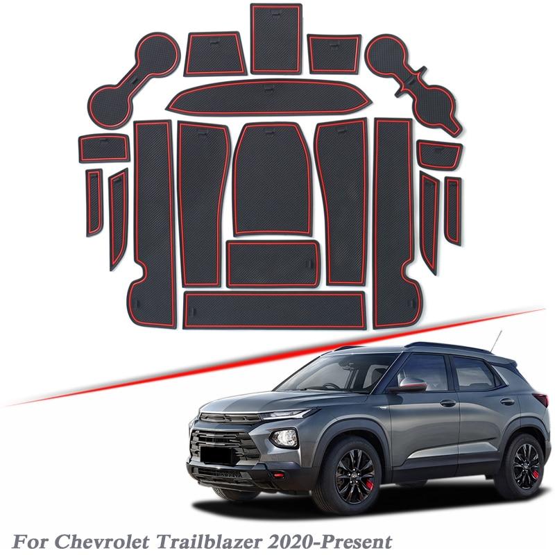19 шт. автомобильный Стайлинг ворота Слот коврик для Chevrolet Trailblazer 2020-настоящее время силикагель двери паз коврик интерьер нескользящий пылез... title=
