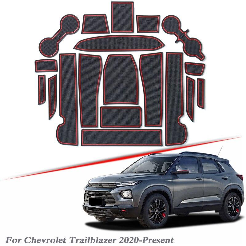 19 Pcs Mobil Styling Gate Slot Pad untuk Chevrolet Trailblazer 2020-Sekarang Silica Gel Pintu Alur Mat Interior Non -Slip Debu Mat