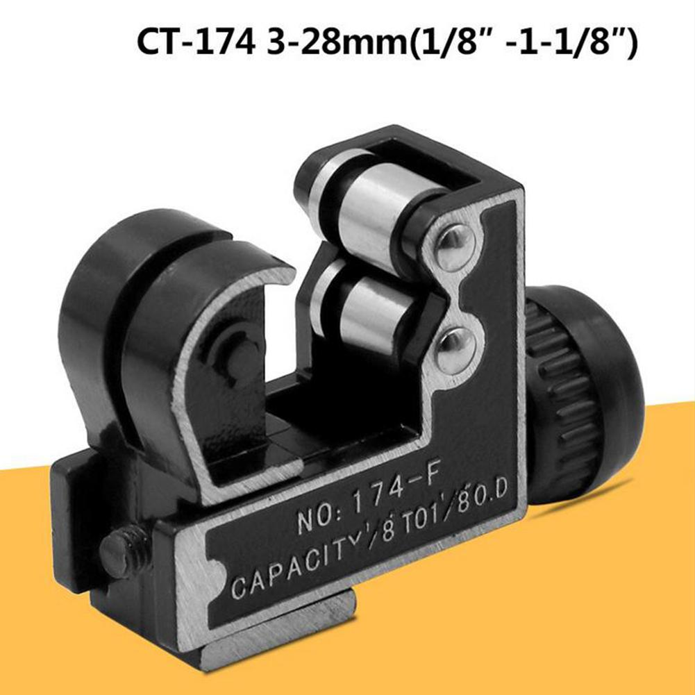 Mini Adjustable Tube Hose Tubing Cutter Cutting Tool For 3-28mm Copper Aluminum Plastic Pipes