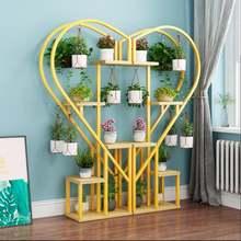 Многослойная декоративная полка в форме сердца с цветами