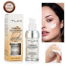 TLM 30ML zmiana koloru fundacja baza pod makijaż podkład w płynie długotrwały rozjaśnić makijaż pielęgnacja skóry twarzy korektor
