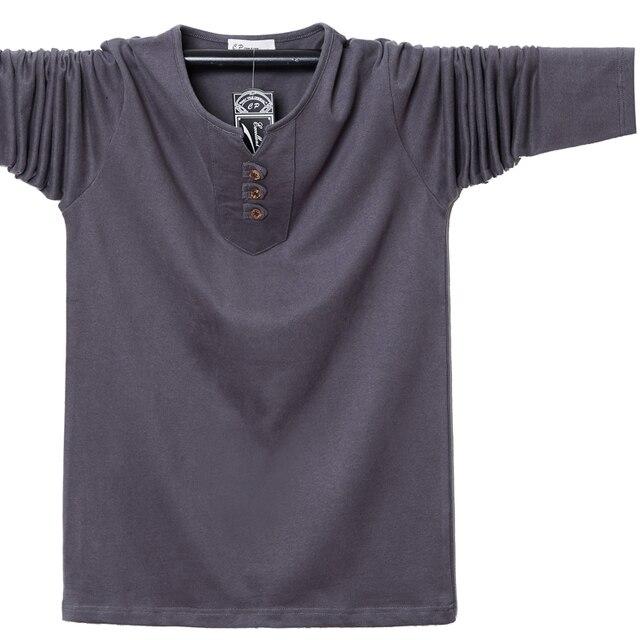 Фото мужская футболка с длинным рукавом и пуговицами размеры до 5xl цена