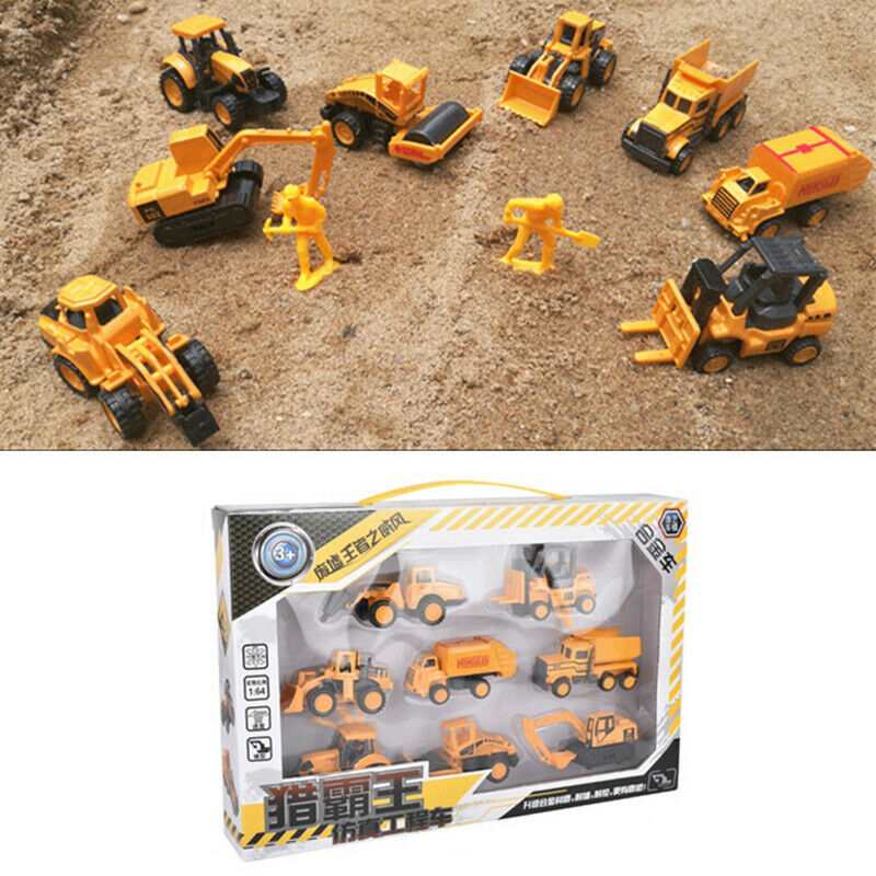 8Pcs Mini Engineering Vehicle Truck Car Model Tractor Toy Construction Car Excavator Model Toys For Children Gift Free Shipping