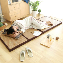 Slow Tree Foldable Tatami Mattress Summer Sleeping Mat Cool Rattan Mat Baby Playmat Living Room And Bedroom Bed Rug with Bag(China)