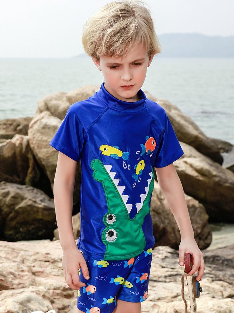 KID'S Swimwear Big Boy BOY'S Split Type Swimming Trunks Set Boy Tour Bathing Suit Teenager Sun-resistant Quick-Dry Swimwear