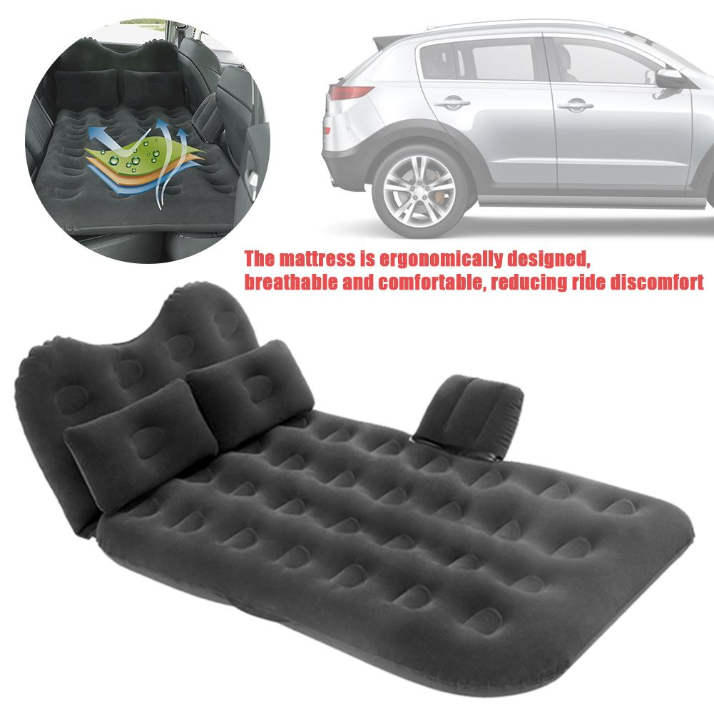 Car Travel Bed Camping Inflatable Sofa Automotive Air Mattress Rear Seat Rest Cushion Rest Sleeping Pad Without Pump Accessories