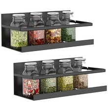 netic Spice Rack 2 Pack Spice Storage Shelf Strongly netic Kitchen Organizer Racks for Spices Bottle, Tea, Coffee Syrup an(China)