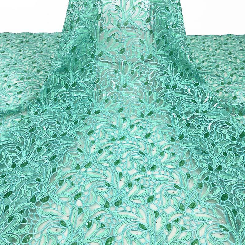 Popular African Lace Fabric/ High Quality Nigeria Mesh Lace/ French Tulle Lace Fabric For Fashion Dresses AD712