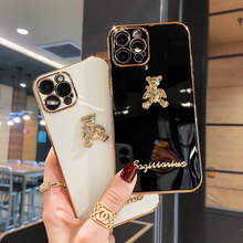 Luxury Rhinestone Bee For Apple IPhone 11 12 Pro Max Case Mini X XS XR 6 6s 7 8 Plus SE 2020 For Huawei P 20 30 40 Nova 5 Cover