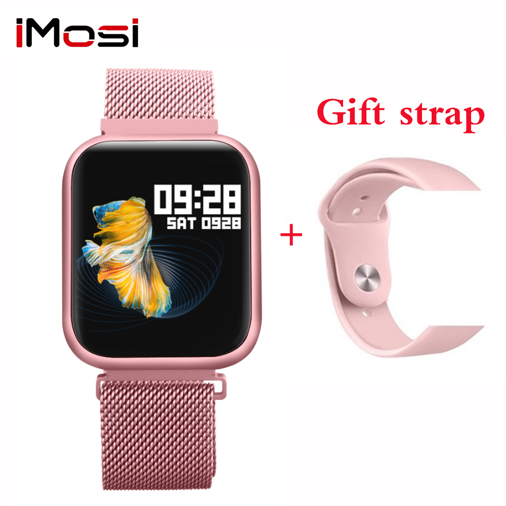 Imosi P80 smart watch women IP68 waterproof full touch screen Heart Rate Monitor blood pressure smartwatch image
