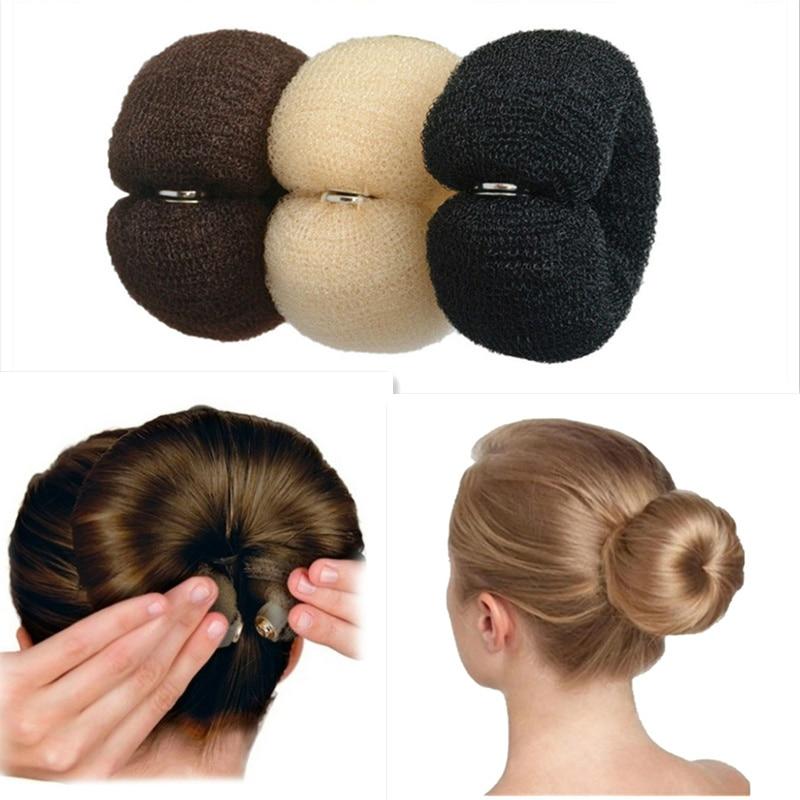 Модный прибор для укладки волос в пучок, волшебная губка из пеноматериала в форме пончика, простые большие кольца, инструменты для укладки в...