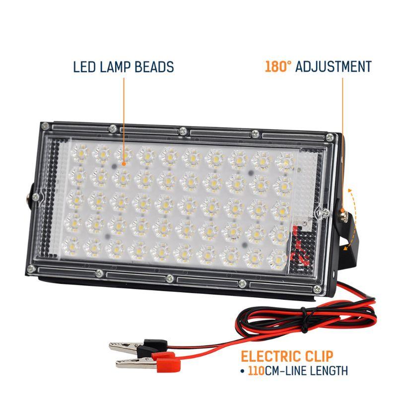 Projector ao ar livre holofote 50w parede arruela jardim lâmpada refletor ip65 12v y98e