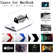 Laptop Case For Macbook Air Pro Retina 12 13 15 Case For Apple MacBook Case Pro 13.3 15.4 Touch Bar Keyboard Cover A2159 Shell цена и фото