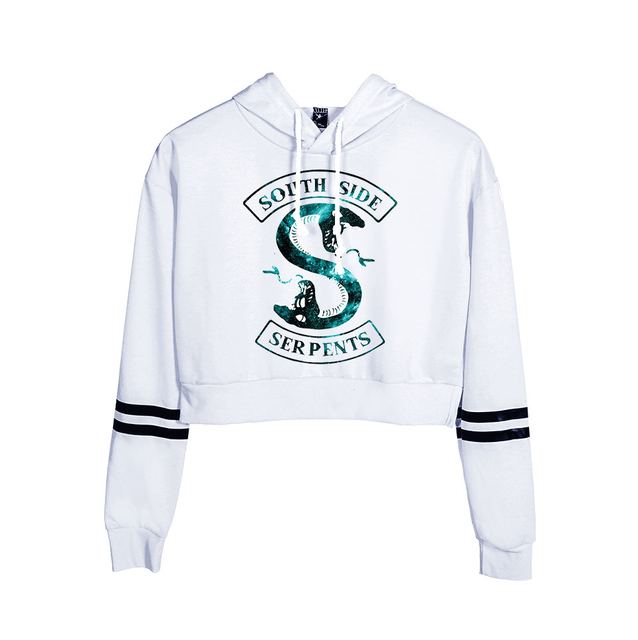 Riverdale South Side Serpents Print Hoodies Long Sleeve Shirts Women's Sweatshirt Harajuku Hoodies