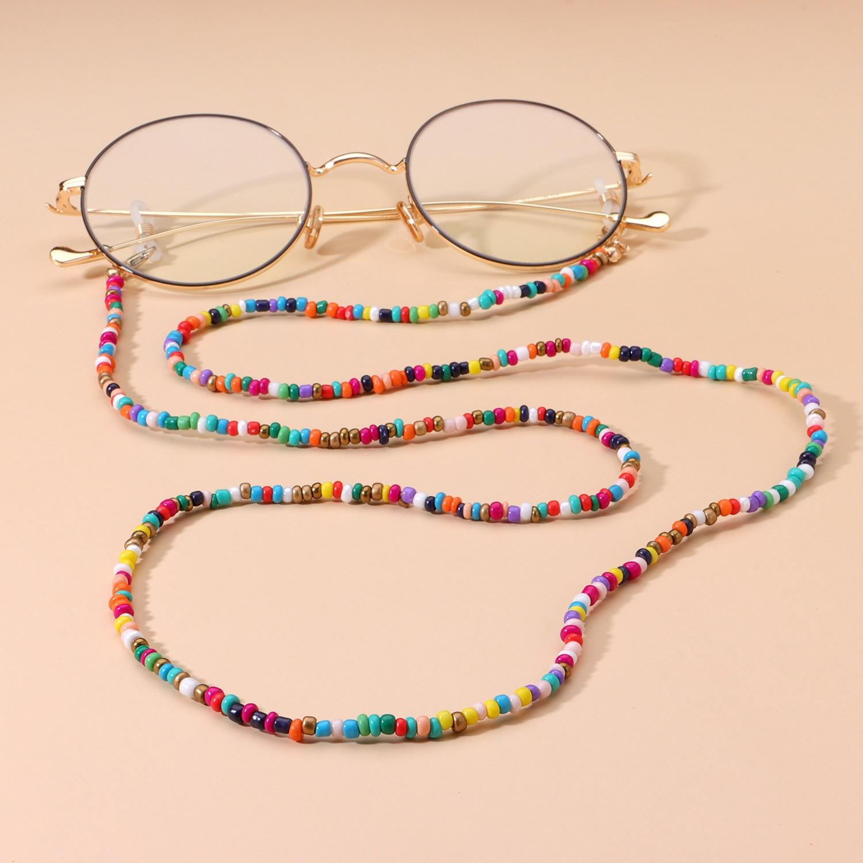 Gran oferta de moda Antipérdida Cadena de anteojos Correa máscara de cuentas cadena Retro gafas de lectura gafas de sol soporte para gafas al por mayor