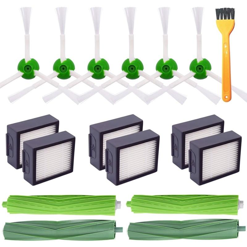 Ev Aletleri'ten Elektrikli Süpürge parçaları'de Yedek parça kiti elektrikli süpürge ikmal fırça filtresi aksesuarı Irobot Roomba I7 + I7 artı E5 E6 E7 serisi title=