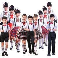 Children School Uniform for Girls Dress Student Class Clothes Matching Outfits Boys Wedding Choir Party Costumes Set