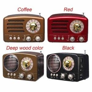 Portable Bluetooth Speaker Retro Mini Portable Vintage Retro Radio AM FM SW Wireless Bluetooth Speaker USB/TF Card Music Player