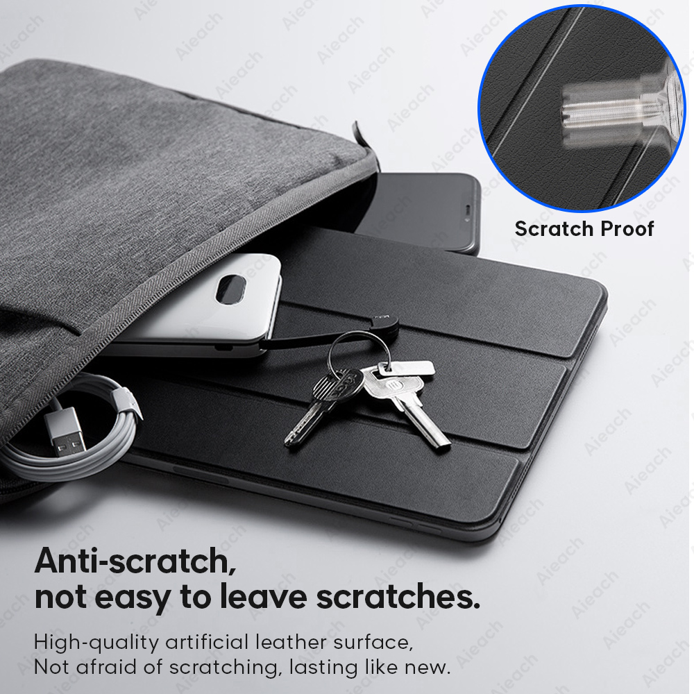 Leather Trifold Stand Case For Samsung Galaxy Tab A 10.1 2019 8.0 S5e Smart Sleep Wake Cover For Galaxy Tab S7 Plus S6 Lite Case-4
