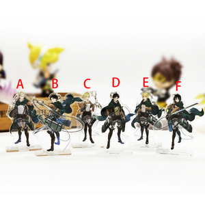 Love Thank You Attack on Titan SMALL acrylic stand figure keychain dual-use Eren Mikasa Armin Erwin Levi Annie holder cake toppe(China)