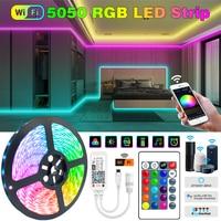 RGB Led Streifen Licht 5050 DC 12V 5M 10M Flexible LED Diode Band 15M 20M RGB LEDs neon wasserdichte WiFi Controller Adapter Set