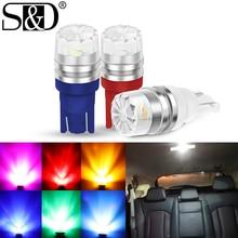 1Pc T10 LED W5W LED Bulb 194 168 Led 2SMD 5630 Car Wedge License Plate Lamp Dome Light 3000K 6000K 8000K White Green Blue Red