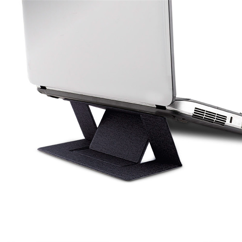 Adjustable Laptop Stand Laptop Pad Adhesive Invisible Stands Folding Bracket Portable Tablet Holder Hot sale image