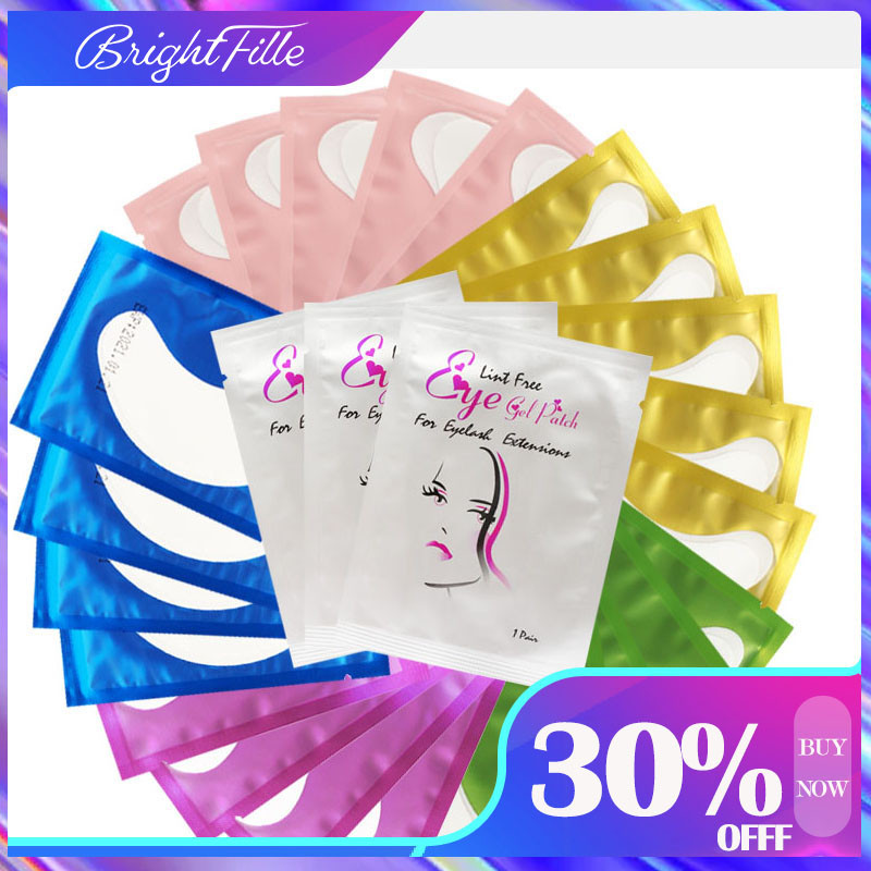 50/100Pcs Eyelash Patches Women Useful Eyelash Pads Lashes Eyelash Extension Pads Mask Eyepads Eye Gel Patch Set Eye Patches
