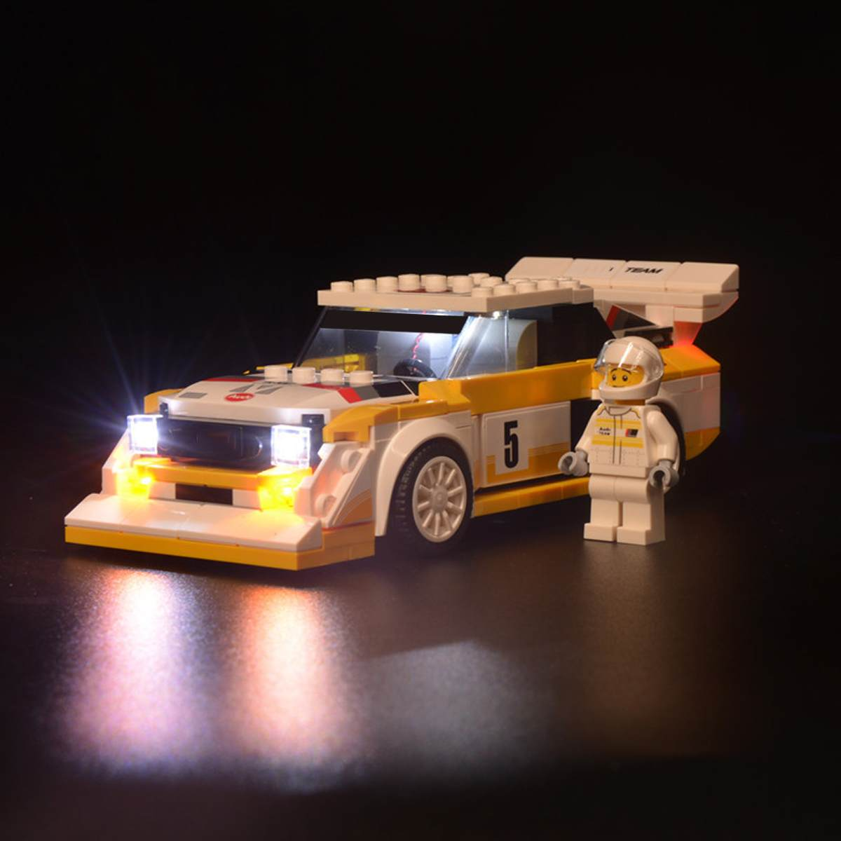 LED Light Up Kit For 76897 For Audi 1985 Sport For Quattro S1 Speed For Champions Car Brick Toy (Model Not Included)