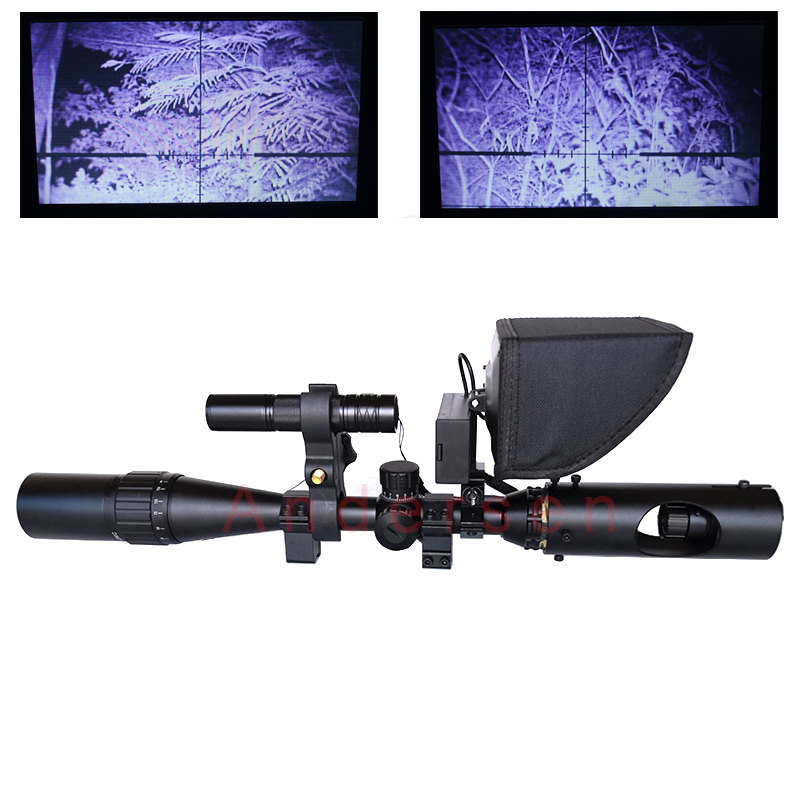 2020 Best Sniper Outdoor Hunting Optic Sight Tactical Riflescope Infrared Night Vision With LCD For Scope No Battery