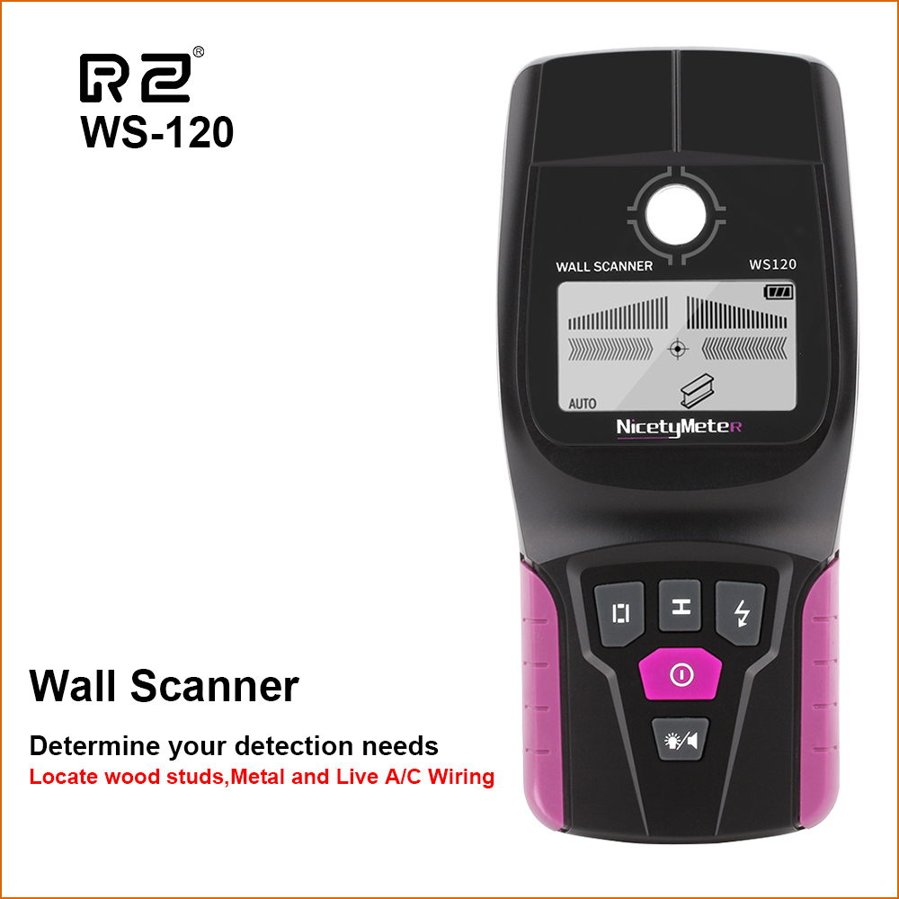 Scanner de métal mural numérique RZ détecteur de mur professionnel multifonction de poche