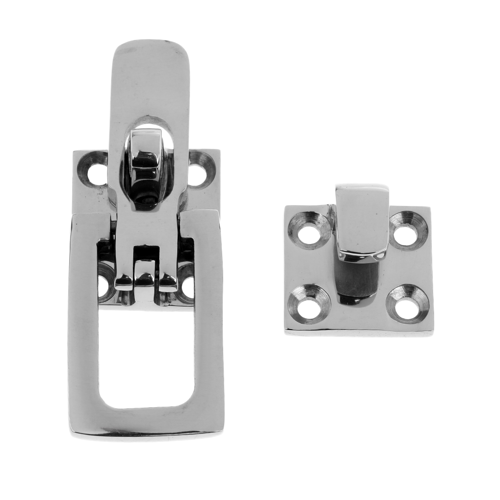 2 Piece Stainless Steel Boat Latch Hatch Anti-rattle Closure Clamp